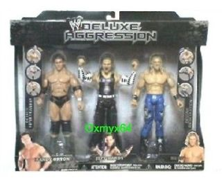 Pacific Deluxe Aggression Orton Jeff Hardy Edge 3 Pack Figure Set