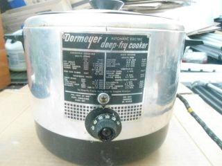 Vintage Dormeyer Deep Fryer Cooker Deep Fry