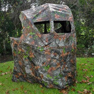 SHOOTING DOUBLE HUNTING CHAIR BLIND camo deer hunt turkey 2 person