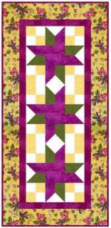Crossroad TABLE RUNNER QUILT KIT   yellow, fucshia RJR   cut and