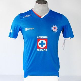Umbro Cruz Azul de Mexico Blue Soccer Football Jersey NWT