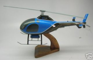 600 Talon Rotorway Helicopter Desk Wood Model Small