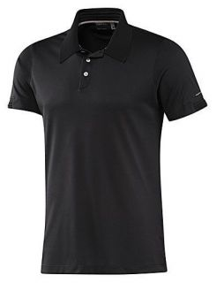NEW Adidas XL Mens Pique PORSCHE Design Polo Shirt Black Casual Retro