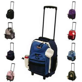 16.5 ROLLING WHEELED BACKPACK/ BOOKBAG ( 9 COLORS)