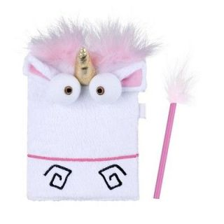 Despicable Me Unicorn Plush Fluffy Journal Universal Studios Ride