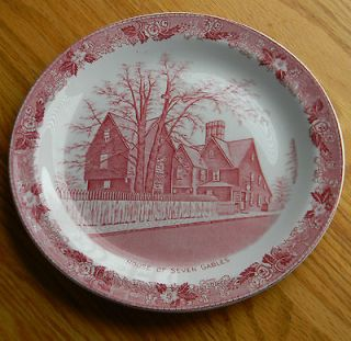 Red House of Seven Gables Staffordshire Ware Jonroth England Transfer
