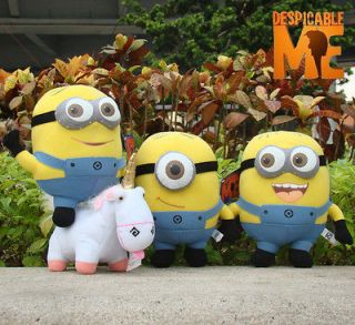 Despicable Me Plush Toy 9 Minions & Unicorn Set Of 4 Stuffed Animal