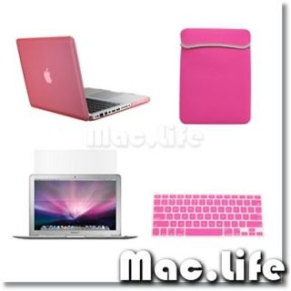 PINK Case for Macbook PRO 13+Keyboard Cover+LCD Screen+ Bag+Mouse