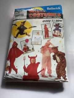 7915 S Childs 3/4 COSTUME PATTERN Devil Witch Football Clown R Riding