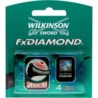 3X Wilkinson Sword Fx Diamond Flexible Blades 4 Pack