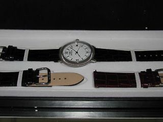 Invicta Mens 0065 white dial guilloche interchangeable watch set