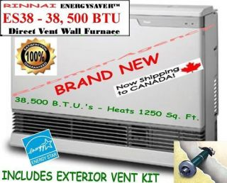 Rinnai   38,500 BTU Direct Vent Wall Room Heater  ES38C