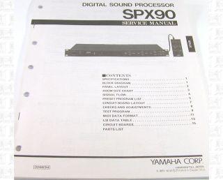 Yamaha SPX90 Digital Sound Processor Service Manual