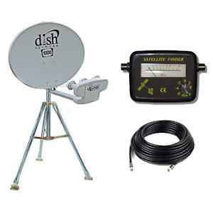 New RV Portable Satellite Dish Network HDTV 1000.2 Tripod KIT 1000