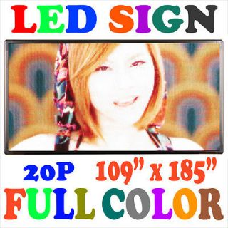 COLOR] 109x185 LED MOVING SCROLLING PROGRAMMABLE DISPLAY SIGN BOARD
