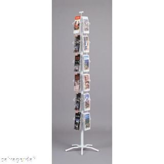 24 Pocket Greeting Card Display Rack Spinner 4 1/4 New