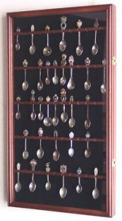 60 Spoon Display Case Cabinet Holder Rack Wall Mounted