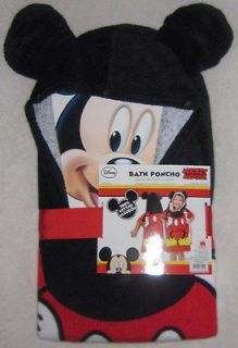 Disney Mickey Mouse Clubhouse Hooded Poncho Bath Towel Beach 100%
