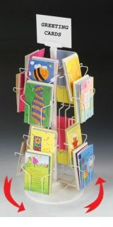 16 Pocket 5 x 7 Rotating Countertop Greeting Card Display Rack