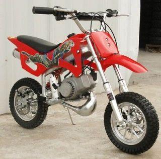 BRAND KIDS 49CC 50CC 2 STROKE GAS MOTOR MINI BIKE DIRT PIT BIKE RED H