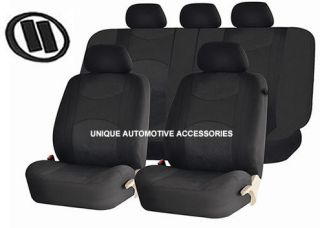 DODGE RAM CHARGER BLACK CAR SEAT COVERS FREE MEMORY FOAM STEERING