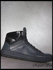 Man Shoes Sneakers CHRISTIAN DIOR Homme Blue Black Calf Skin Luxus New