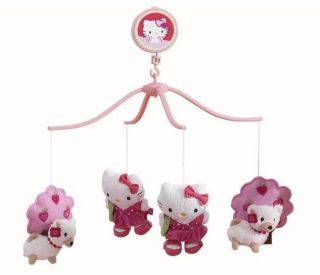 Hello Kitty Out with Pup Musical Mobile Plays A Sweet Lullaby For