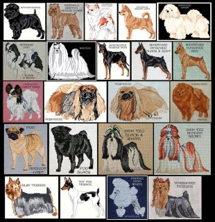TOY DOG BREEDS COUNTED CROSS STITCH PATTERNS