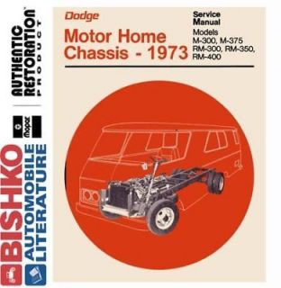 1973 Dodge Class A Motor Home Chassis Shop Service Repair Manual CD