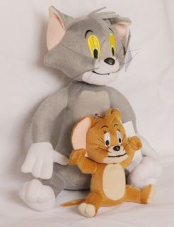 28CM & 15CM Tom and Jerry Soft Plush Doll Toy NEW