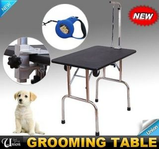 New Portable Pet Dog Folding Grooming Table With Free Strap Support