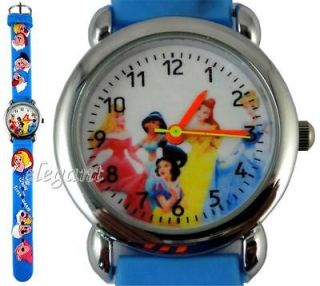 Disney Princess Cinderella Belle Ariel Mulan Blue Watch