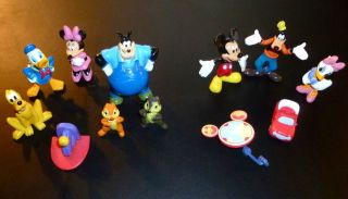 New MOUSEKA FUN Disney Mickey Mouse Clubhouse 12 Figurines/Play​mat