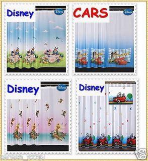 Disney CARS McQUEEN Mickey Mouse Donald Duck TINKERBELL Net Curtain