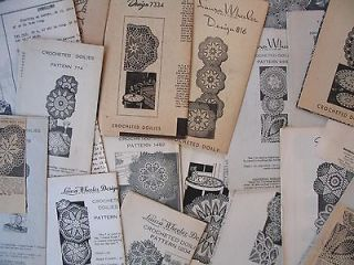 VINTAGE CROCHETED DOILIES PATTERNS   Choice from Alice Brooks, Laura