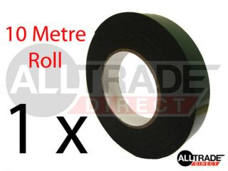 DOUBLE SIDED FOAM TAPE BLACK 25mm x 10m ROLL QTY 1