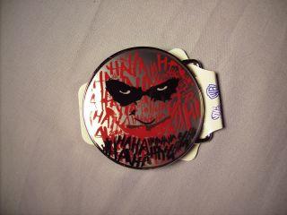 Licensed Official Batman Dark Knight Joker Ha Ha Belt Buckle New NWT