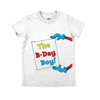 Dr Seuss   Birthday Boy Sign T shirt