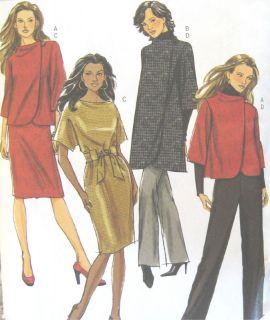 Lined Jacket Coat Dress Belt Pants Sewing Pattern Kimono Sleeve 5259