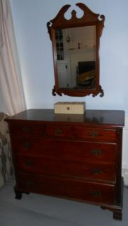 Mahogany Dresser and Mirror Antique