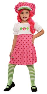 Shortcake Cartoon Character Pink Dress Up Halloween Child Costume