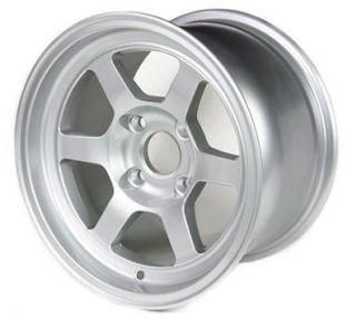 Silver 13x8 4x100 Drag Autocross Wheels Civic Integra Miata Rims