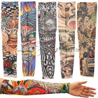 Styles Punk Mix Nylon Stretchy Temporary Tattoo Sleeves Fashion Arm