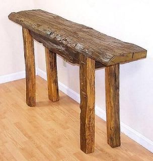 rustic primitive driftwood sofa console hall table made in usa One of