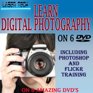 PHOTOGRAPHY/ MASTER TRAINING 6 DVD VIDEO TUTORIALS D SLR PHOTOSHOP