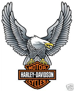 HARLEY DAVIDSON UP WING EAGLE SILVER DECAL