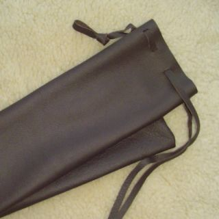 Native Flute Shakuhachi Low D Whistle Bag Pouch LEATHER