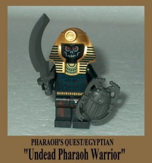 QUEST Lego Egyptian Undead Pharaoh Warrior w/scarab shield Anubis #3