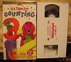 Time For Counting VHS Video Actimates Educational Toddler Kids 50min
