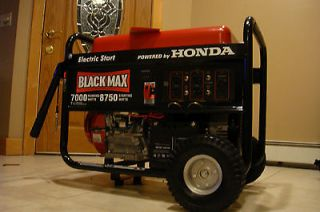 Honda 8750 watts Portable Electric Generator propane natural gas tri